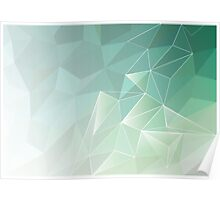 abstract polygon pattern , light green Poster