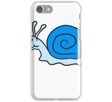 small sweet cute snail blue smile iPhone Case/Skin