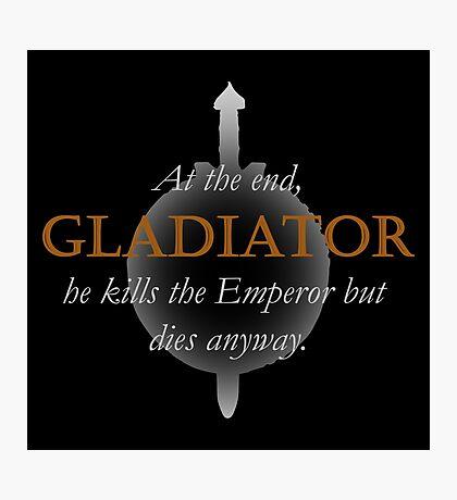 Spoiler - Gladiator #2 (Black BG) Photographic Print