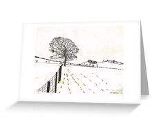 A YORKSHIRE SNOW SCENE Greeting Card