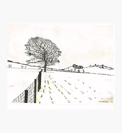 A YORKSHIRE SNOW SCENE Photographic Print