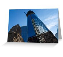 Building the Freedom Tower - One World Trade Center Under Construction Greeting Card