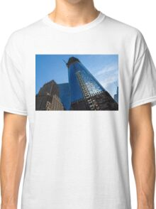 Building the Freedom Tower - One World Trade Center Under Construction Classic T-Shirt