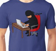 Ninja Working At Home Unisex T-Shirt