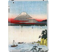 Utagawa Hiroshige The Sea off the Miura Peninsula iPad Case/Skin