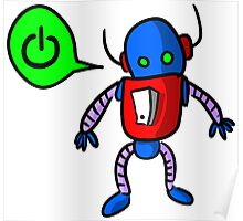 Kids Cartoon Robot Drawing Poster