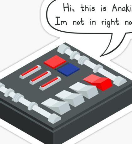 Hi, This is Anakin... Sticker
