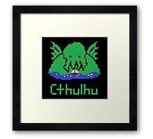 Cthulhu Pixel Framed Print