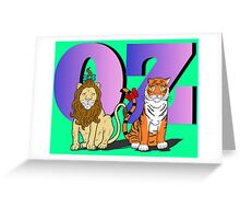 """The Cowardly Lion and The Hungry Tiger Of Oz"" Greeting Card"