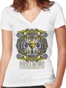 Lovecraftian Dreams Women's Fitted V-Neck T-Shirt