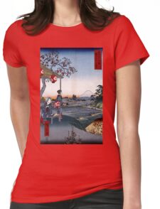 Utagawa Hiroshige The Teahouse with the View of Mt. Fuji Womens Fitted T-Shirt