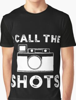 I call the shots White Graphic Graphic T-Shirt