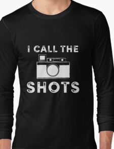 I call the shots White Graphic Long Sleeve T-Shirt
