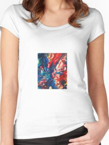 Painted Galaxy Women's Fitted Scoop T-Shirt