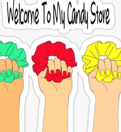 Heathers Scrunchies - Candy Store Sticker