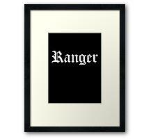 Ranger Framed Print