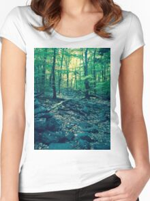 A Voyage Through the Woods Women's Fitted Scoop T-Shirt
