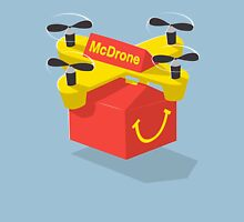 McDrone Happy Meal McDelivery Futuristic Drone McDonalds Burger King Takeaway Unisex T-Shirt
