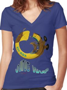 Auster VH-KBA Wing Warp T-shirt Design Women's Fitted V-Neck T-Shirt