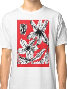 Red Spring Flowers Classic T-Shirt