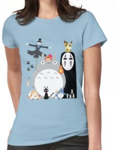 Studio Ghibli Gang Womens Fitted T-Shirt