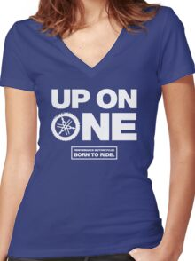 Up On One Performance Dirt Motorcycles Women's Fitted V-Neck T-Shirt