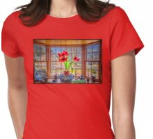 Amaryllis view of Spring Womens Fitted T-Shirt
