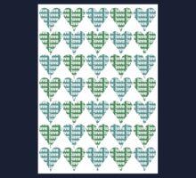 Love Hearts Abstract No.2 Baby Tee
