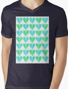 Love Hearts Abstract No.2 Mens V-Neck T-Shirt