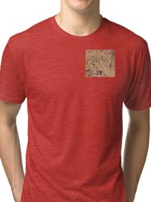 Man on a Bench Thinking About the Past Tri-blend T-Shirt