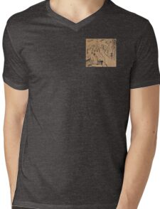 Man on a Bench Thinking About the Past Mens V-Neck T-Shirt