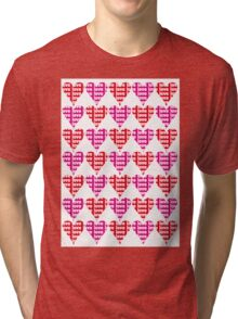 Love Hearts Abstract No.1 Tri-blend T-Shirt
