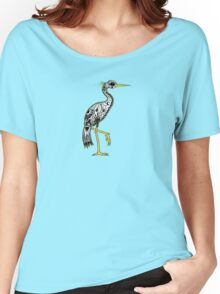 Florida Egret on green Women's Relaxed Fit T-Shirt