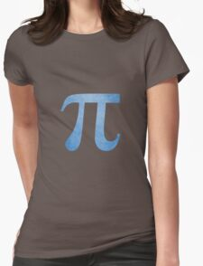 Blue Pi Symbol Womens Fitted T-Shirt