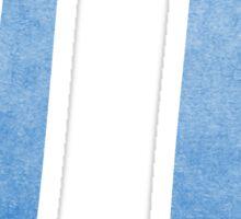 Blue Pi Symbol Sticker