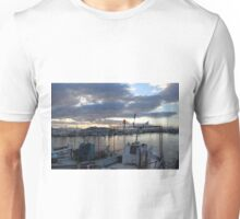 Sunset at the docs in the Greek Isles Unisex T-Shirt