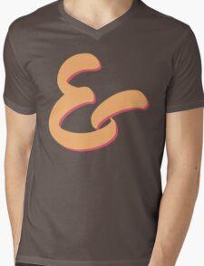 Ampersand - Pastel color Mens V-Neck T-Shirt