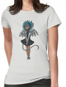 Blue Curls of the Sphinx Womens Fitted T-Shirt