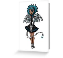 Blue Curls of the Sphinx Greeting Card