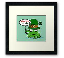 St. Patrick Frog Framed Print