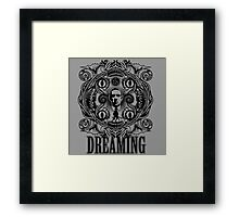 Lovecraftian Dreams (B&W) Framed Print