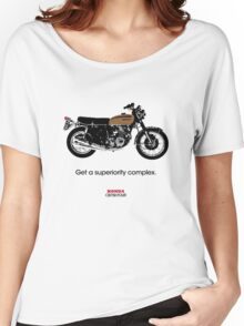 "HONDA CB750 FOUR ""GET A SUPERIORITY COMPLEX"" Women's Relaxed Fit T-Shirt"