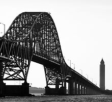 View On Fire Island Inlet Bridge And Robert Moses Water Tower | Gilgo-Oak Beach-Captree, New York by © Sophie W. Smith