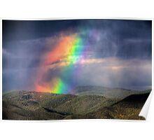 Violent Rainbow -- Sunset storm in the Sangre de Cristos Poster