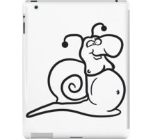 Fat thick beer belly eating sack eat man guy snail iPad Case/Skin
