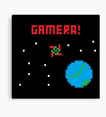 Gamera in Space! Pixel Canvas Print