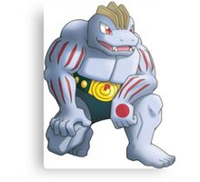 Machoke Pokemon Metal Print