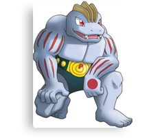 Machoke Pokemon Canvas Print