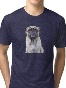 Seeing Eye Pug Tri-blend T-Shirt
