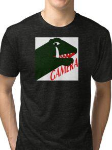 Gamera - White Tri-blend T-Shirt